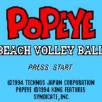 ポパイのビーチバレーボール
